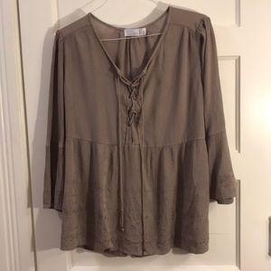 Women's blouse XXL Mocha brown Blouse